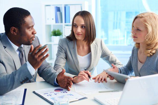 black businessman discussing