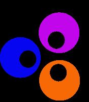 three hollow circles