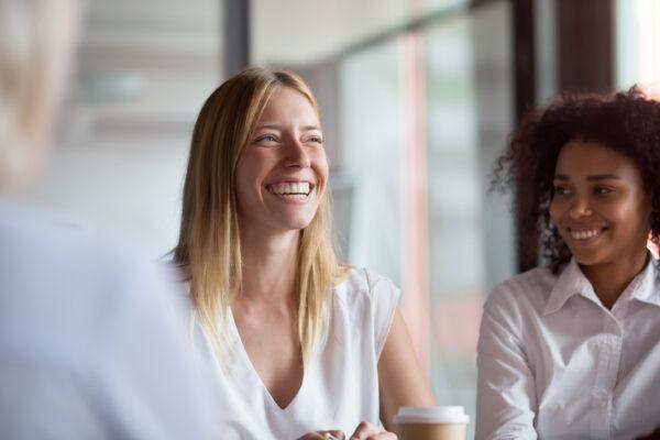 smiling white woman
