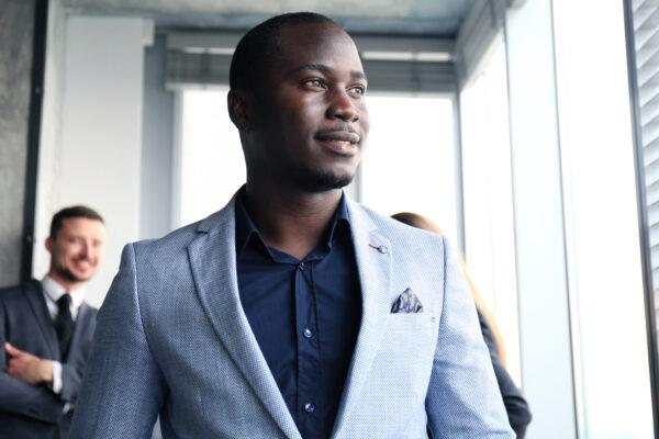 black man wearing
